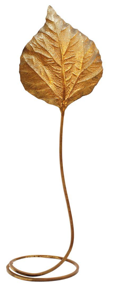 Lámpara italiana de pie dorada