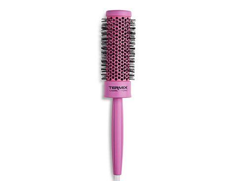 Pink, Comb, Brush, Material property, Cosmetics, Hair accessory, Magenta, Mascara,