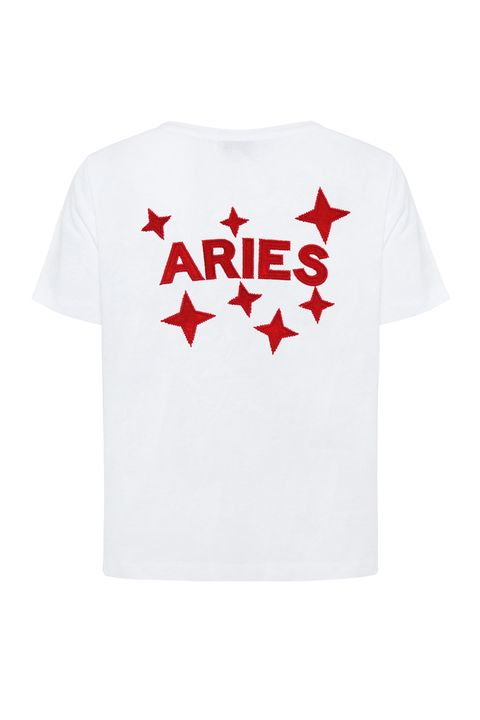 T-shirt, White, Clothing, Red, Sleeve, Active shirt, Product, Top, Text, Carmine,