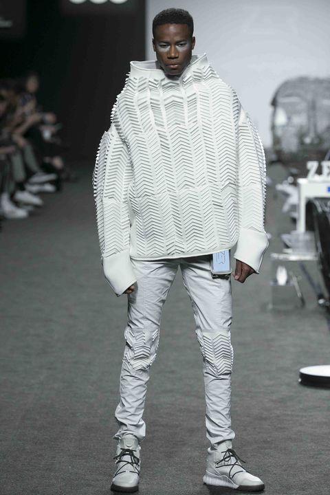 White, Fashion, Clothing, Street fashion, Footwear, Jeans, Outerwear, Fashion design, Human, Shoe,