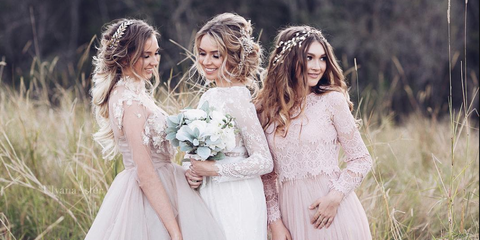 Bride, Wedding dress, Photograph, Gown, Dress, Bridal clothing, Clothing, Beauty, Hairstyle, Bridal party dress,