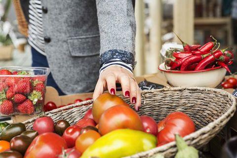 Natural foods, Local food, Whole food, Vegetable, Fruit, Food, Plant, Marketplace, Superfood, Basket,
