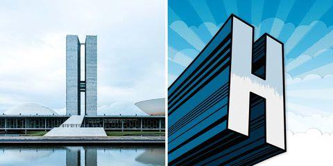 Edificios Emblemáticos: Palacio Nereu Ramos, Anexo 1, de Oscar Niemeyer