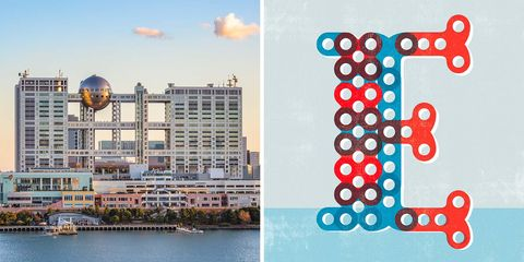 Edificios Emblemáticos: torres de la sede de Fuji Television, en Japón