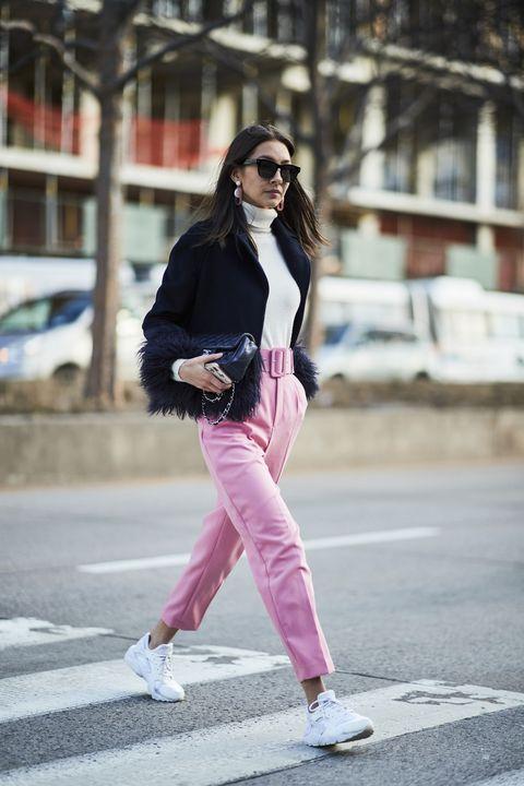 Clothing, Pink, White, Street fashion, Photograph, Fashion, Snapshot, Jeans, Footwear, Shoe,