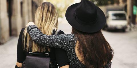 Hair, Street fashion, Photograph, Black, Shoulder, Hat, Fashion, Beauty, Fedora, Blond,