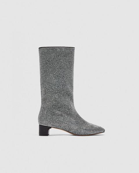 Footwear, Boot, Shoe, Knee-high boot, Durango boot, Silver,