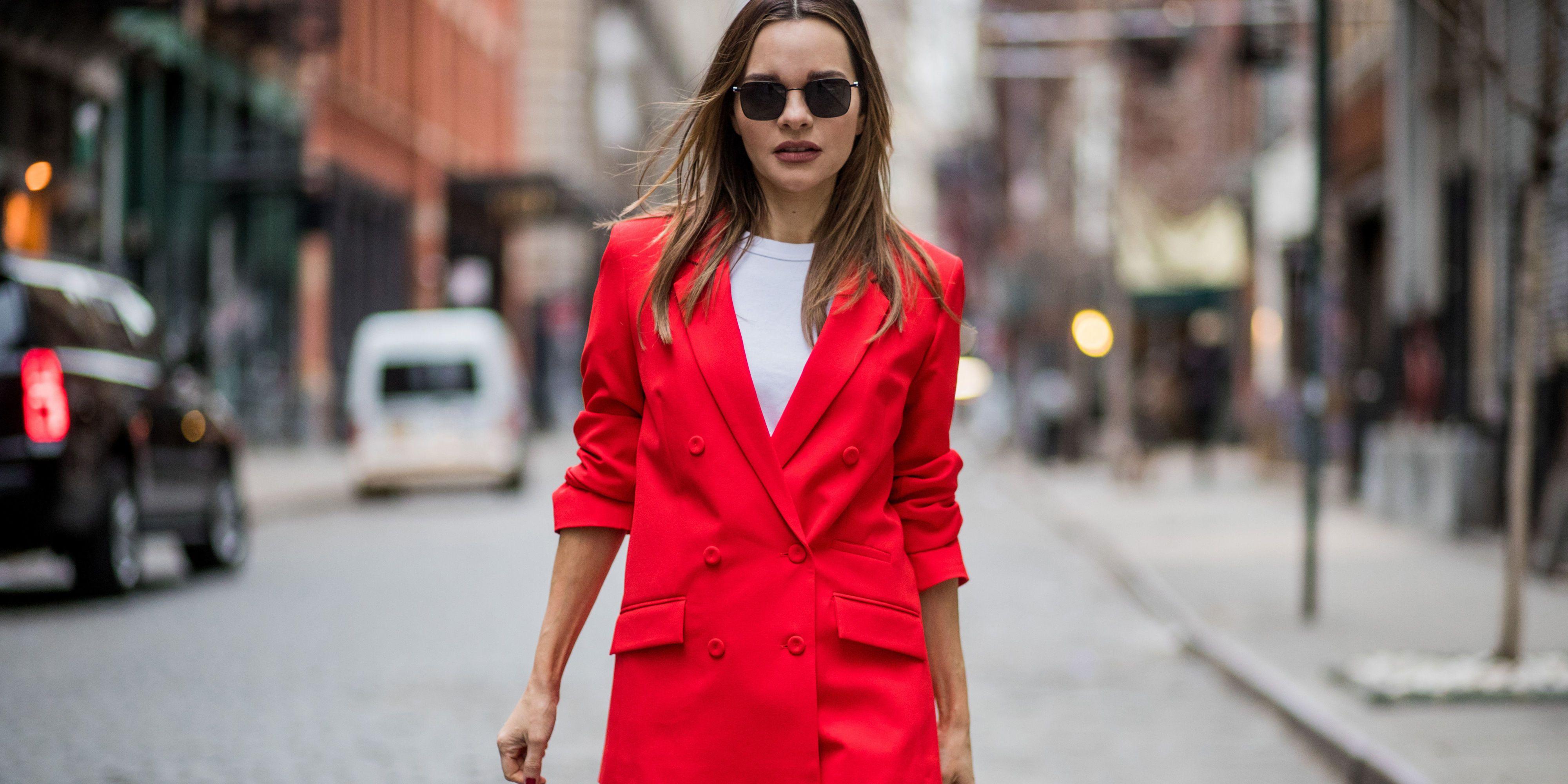 Combinar blazer cuadros mujer 2019