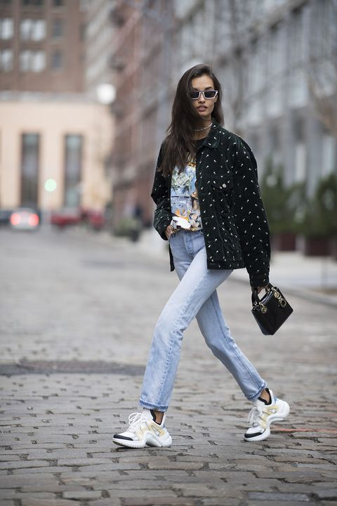 White, Jeans, Street fashion, Clothing, Black, Photograph, Denim, Fashion, Footwear, Beauty,