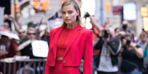 Fashion, Street fashion, Clothing, Pink, Red, Fashion show, Fashion model, Dress, Haute couture, Suit,