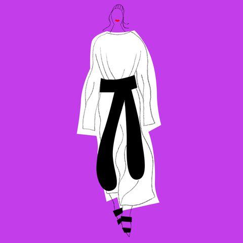 Shoulder, Magenta, Pink, Purple, Violet, Costume design, Back, Fashion illustration, Graphics, Animation,