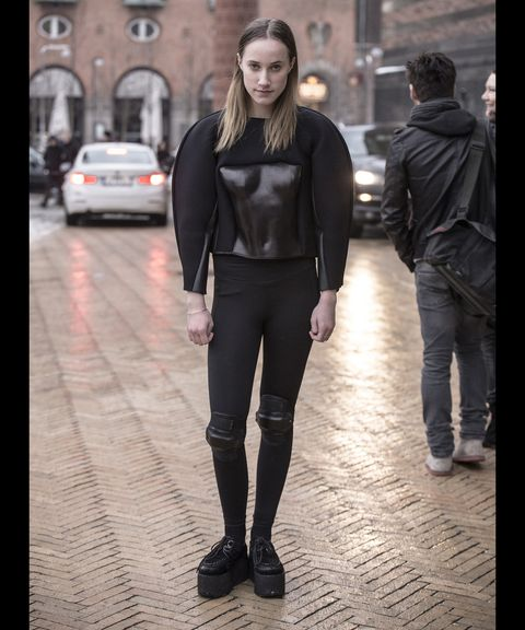 Clothing, Leg, Textile, Outerwear, Style, Street fashion, Street, Jacket, Leather, Fashion,