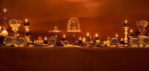 Lighting, Amber, Candle holder, Candle, Tablecloth, Wax, Flame, Heat, Still life photography, Fire,