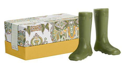 Green, Boot, Rectangle, Knee-high boot, Box, Rain boot, Riding boot, Cylinder,