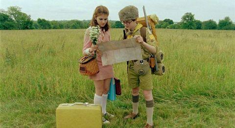 Bag, Plain, Field, Khaki, Grassland, Box, Farm, Luggage and bags, Beige, Pasture,