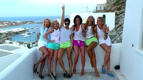 Clothing, Leg, Smile, Fun, Social group, Photograph, Tourism, Leisure, Happy, Facial expression,