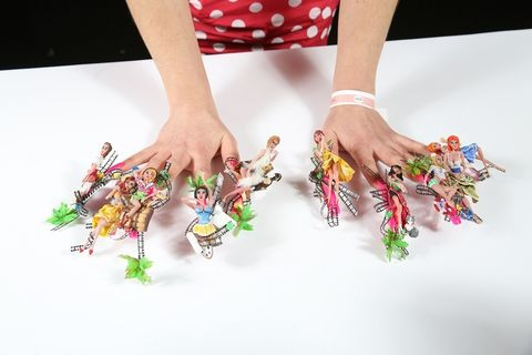 Finger, Wrist, Nail, Style, Pattern, Bracelet, Design, Creative arts, Fashion design, Polka dot,