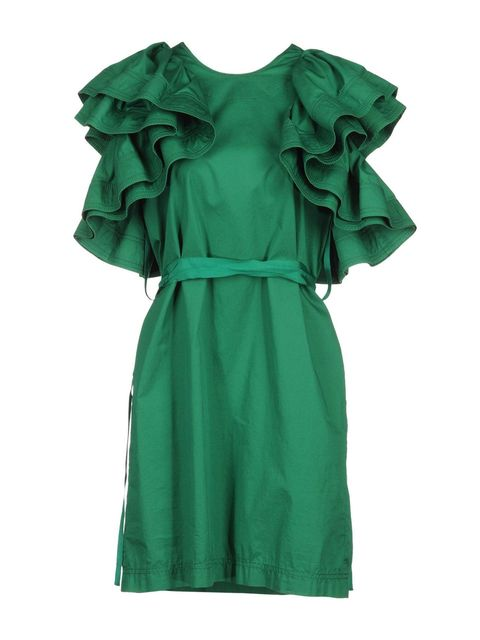 Green, Sleeve, Textile, Collar, Teal, Turquoise, Aqua, Dress, Fashion, One-piece garment,