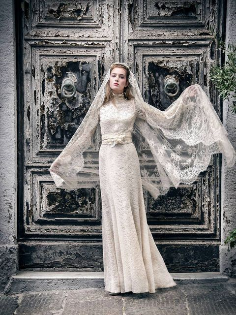 Clothing, Dress, Photograph, Standing, Formal wear, Style, Bridal clothing, Gown, Wedding dress, Beauty,