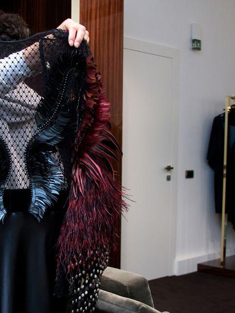Textile, Embellishment, Lace, One-piece garment, Mannequin, Costume, Fashion design, Costume design, See-through clothing, Haute couture,