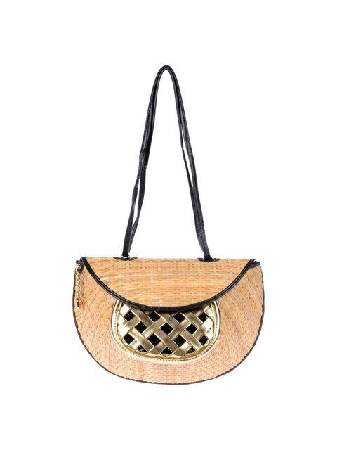 Brown, White, Style, Bag, Shoulder bag, Tan, Beige, Circle, Natural material, Leather,