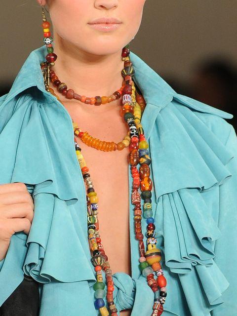 Style, Collar, Jewellery, Fashion accessory, Fashion, Neck, Body jewelry, Street fashion, Turquoise, Electric blue,