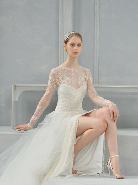 Clothing, Shoulder, Joint, Dress, Bridal clothing, Elbow, Fashion accessory, Sitting, Wedding dress, Gown,