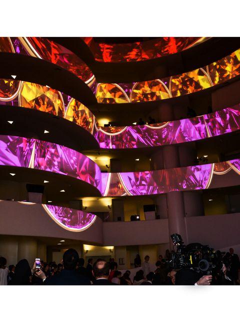 Purple, Magenta, Violet, Pink, Decoration, Lavender, Hall, Function hall, Audience, Convention center,