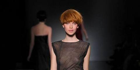 Hairstyle, Shoulder, Joint, Style, Fashion model, Waist, Fashion, Black hair, Model, Bangs,