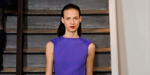Clothing, Blue, Human leg, Shoulder, Dress, Joint, Style, Purple, Electric blue, One-piece garment,