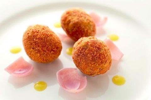Food, Dish, Cuisine, Ingredient, Arancini, Fried food, Croquette, Produce, Dessert, Finger food,