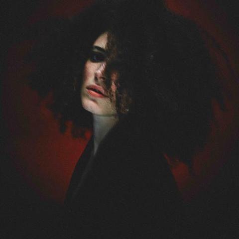 Lip, Darkness, Black hair, Portrait, Portrait photography, Feathered hair, Painting, Self-portrait,
