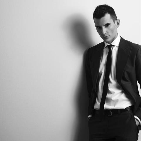 Clothing, Dress shirt, Collar, Trousers, Shoulder, Coat, Suit trousers, Shirt, Standing, Photograph,