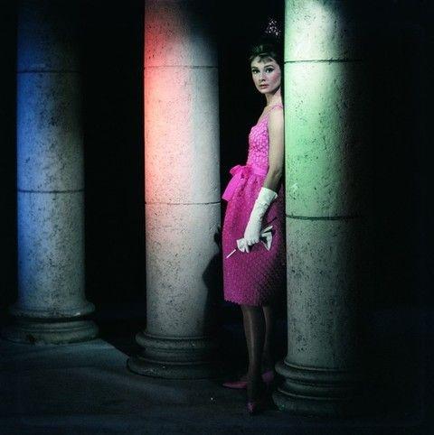 Standing, Dress, Purple, Magenta, Darkness, One-piece garment, Tints and shades, Street fashion, Waist, Day dress,