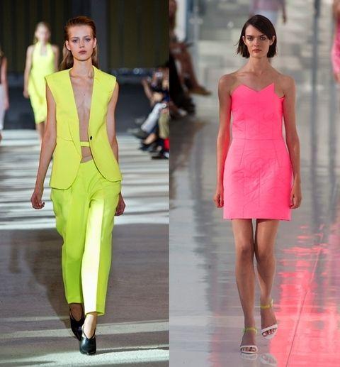 Shoulder, Joint, Style, Fashion model, Magenta, Fashion, Neck, Dress, Street fashion, Fashion show,