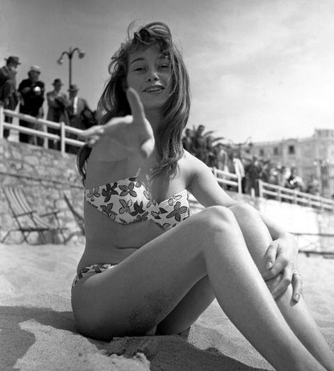 Human leg, Photograph, Brassiere, Summer, Swimsuit top, Monochrome, Beauty, Undergarment, Bikini, Thigh,