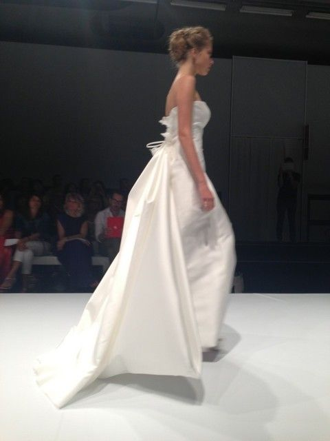 Clothing, Hairstyle, Shoulder, Dress, Joint, Gown, Formal wear, Fashion show, Style, Bridal clothing,