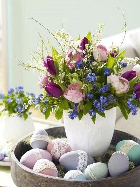 Blue, Bouquet, Petal, Flower, Purple, Ingredient, Lavender, Cut flowers, Easter egg, Egg,