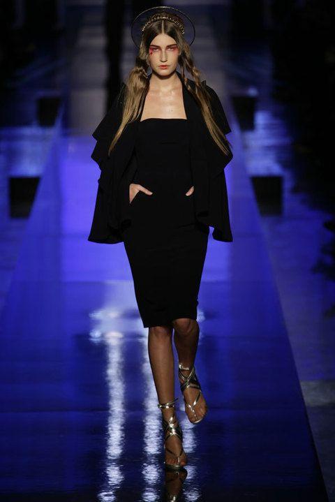 Clothing, Fashion show, Runway, Dress, Style, Fashion model, Waist, Knee, Fashion, High heels,