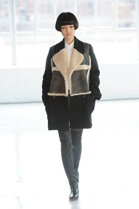 Clothing, Brown, Winter, Sleeve, Shoulder, Textile, Standing, Joint, Outerwear, Coat,