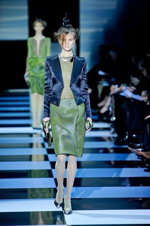 Clothing, Fashion show, Runway, Shoulder, Dress, Outerwear, Fashion model, Style, Hat, Fashion,