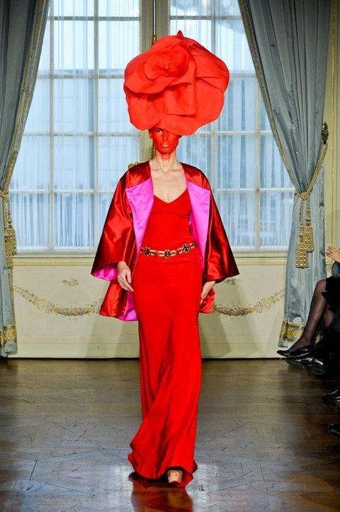 Textile, Interior design, Curtain, Window treatment, Headgear, Magenta, Window covering, Interior design, Costume, Costume design,