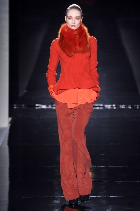 Sleeve, Standing, Red, Style, Fashion, Street fashion, Fashion model, Maroon, Stage, Fur,