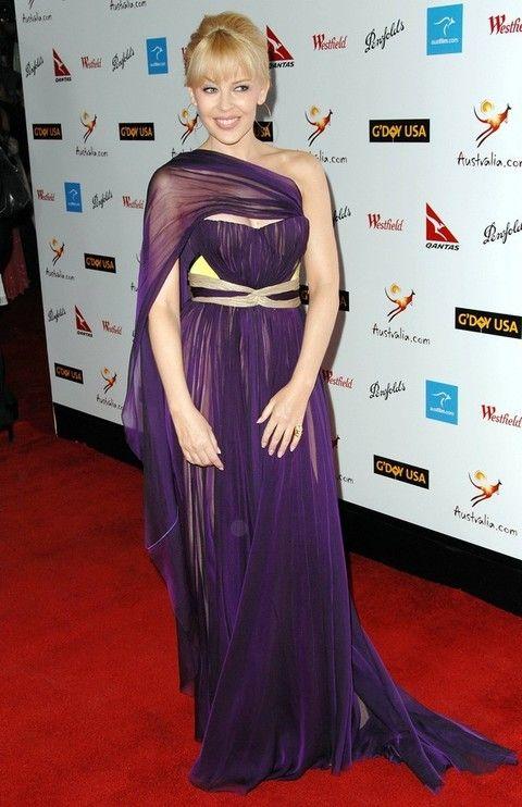 Flooring, Dress, Hairstyle, Shoulder, Textile, Purple, Premiere, Style, Carpet, Formal wear,