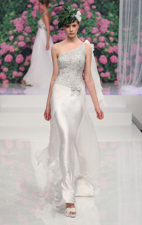 Clothing, Shoulder, Textile, Petal, Pink, Style, Dress, Bridal clothing, Fashion, Fashion model,