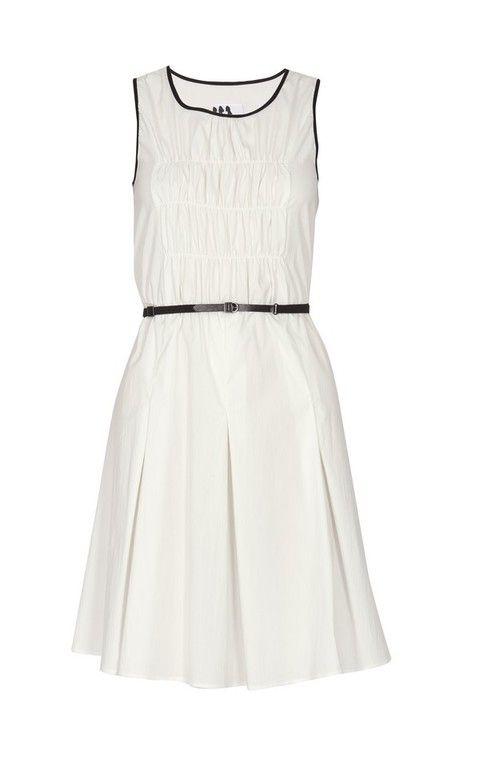 Product, Dress, Textile, White, Style, Pattern, One-piece garment, Day dress, Black, Grey,