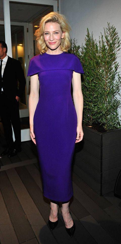 Clothing, Dress, Shoulder, Joint, Suit, Formal wear, Purple, Style, Coat, Electric blue,