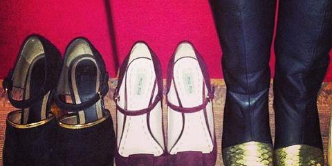 Footwear, Purple, Fashion, Dress shoe, Leather, Pocket, Dancing shoe, Synthetic rubber,