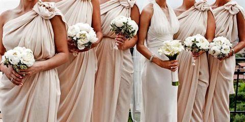 Clothing, Petal, Dress, Flower, Photograph, Bouquet, White, Bridal clothing, Formal wear, Wedding dress,