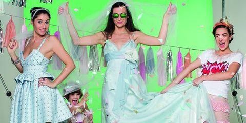 Dress, Pink, Sunglasses, Fashion accessory, Fashion, One-piece garment, Party, Day dress, Embellishment, Costume,